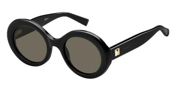Max Mara Damen Sonnenbrille » MM PRISM VIII«, schwarz, 807/IR - schwarz/grau