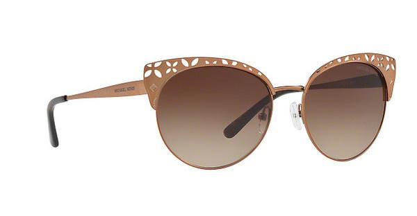 MICHAEL KORS Michael Kors Damen Sonnenbrille »EVY MK1023«, braun, 119013 - braun/braun