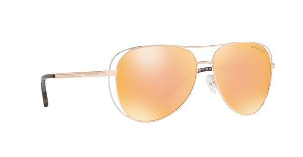 MICHAEL KORS Michael Kors Damen Sonnenbrille »LAI MK1024«, rosa, 1174N0 - rosa/ gold