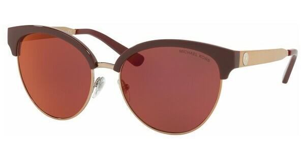 MICHAEL KORS Michael Kors Damen Sonnenbrille »AMALFI MK2057«, braun, 3307D0 - braun/rot