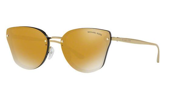 MICHAEL KORS Michael Kors Damen Sonnenbrille »SANIBEL MK2068«, schwarz, 30094Z - schwarz/gold