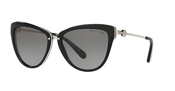 MICHAEL KORS Michael Kors Damen Sonnenbrille »ABELA II MK6039«, schwarz, 312911 - schwarz/grau
