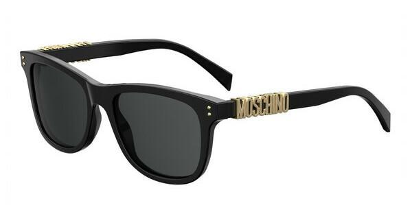 Moschino Damen Sonnenbrille » MOS012/S«, schwarz, 807/IR - schwarz/grau
