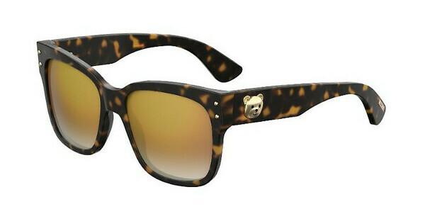 Moschino Damen Sonnenbrille » MOS011/S«, braun, 086/FQ - braun/ gold