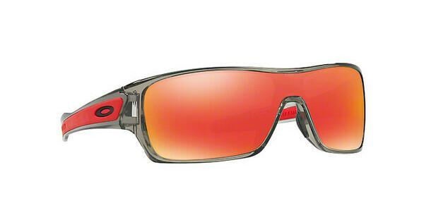 Oakley Herren Sonnenbrille »TURBINE ROTOR OO9307«, grau, 930703 - grau/rot