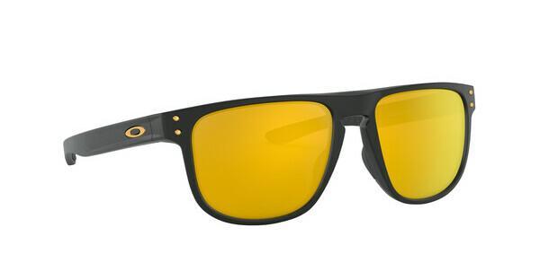 Oakley Herren Sonnenbrille »HOLBROOK R OO9377«, schwarz, 937705 - schwarz/gold