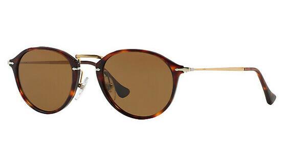 PERSOL Persol Herren Sonnenbrille » PO3046S«, braun, 24/57 - braun/braun