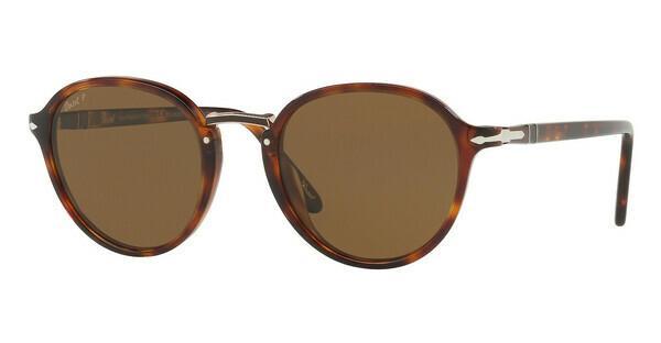 PERSOL Persol Herren Sonnenbrille » PO3184S«, braun, 24/57 - braun/braun