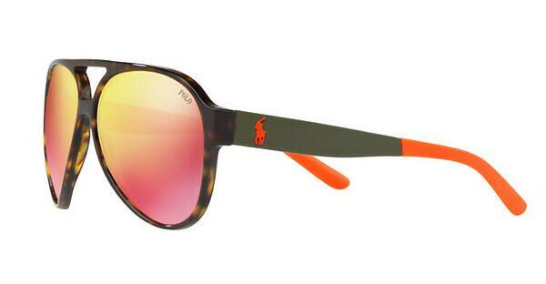 Polo Herren Sonnenbrille » PH4130«, braun, 56706Q - braun/ gelb
