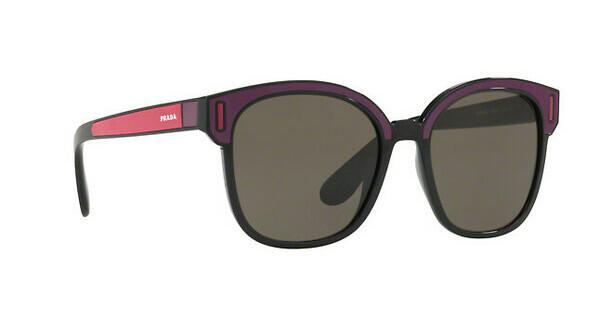 PRADA Prada Damen Sonnenbrille » PR 05US«, schwarz, SSA5S2 - schwarz/braun