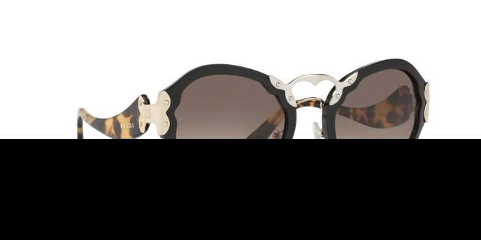 PRADA Prada Damen Sonnenbrille » PR 09TS«, schwarz, 1AB3D0 - schwarz/ grau