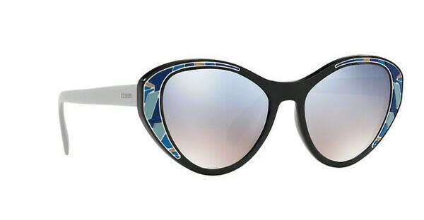 PRADA Prada Damen Sonnenbrille » PR 14US«, schwarz, LDM5R0 - schwarz/silber