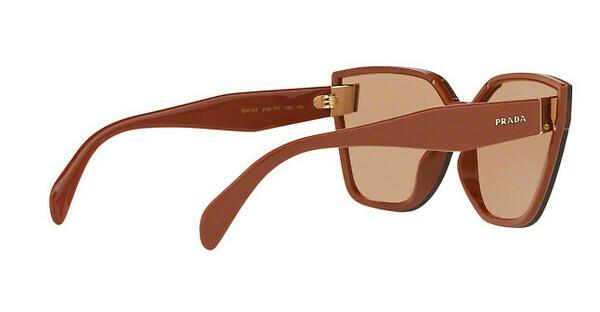 PRADA Prada Damen Sonnenbrille » PR 16TS«, braun, ZXB1P1 - braun/braun