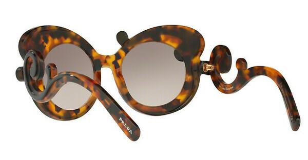 PRADA Prada Damen Sonnenbrille »MINIMAL BAROQUE PR 23NS«, schwarz, VAK4K0 - schwarz/ grau