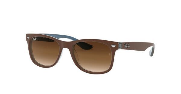 Ray-Ban Junior RJ9052S Sonnenbrille Mattes Braun auf Blau 703513 48mm dyeMAAMg4