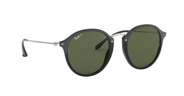 RAY BAN RAY-BAN Sonnenbrille »Round/classic RB2447«, schwarz, 901/58 - schwarz/grün