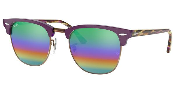 RAY BAN RAY-BAN Sonnenbrille »CLUBMASTER RB3016«, grau, 1221C3 - grau/mehrfarbig