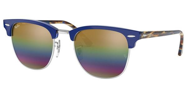 RAY BAN RAY-BAN Sonnenbrille »CLUBMASTER RB3016«, grau, 1223C4 - grau/mehrfarbig