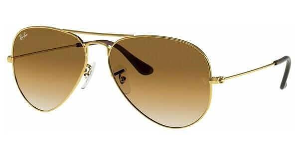 ray ban aviator medium gold braun