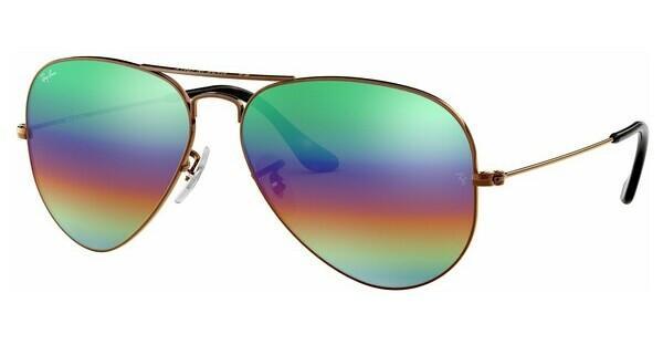 Ray Ban Ray-Ban Sonnenbrille »aviator Large Metal Rb3025«, Braun, 9018c3 - Braun/mehrfarbig