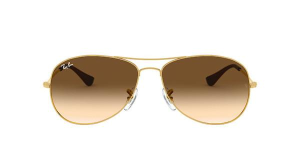 RAY BAN RAY-BAN Damen Sonnenbrille »COCKPIT RB3362«, goldfarben, 001/51 - gold/braun