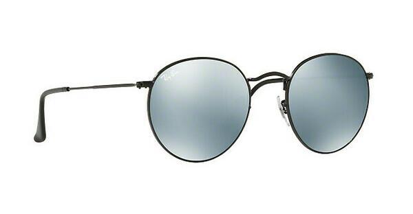 RAY BAN RAY-BAN Sonnenbrille »ROUND METAL RB3447«, schwarz, 002/30 - schwarz/silber
