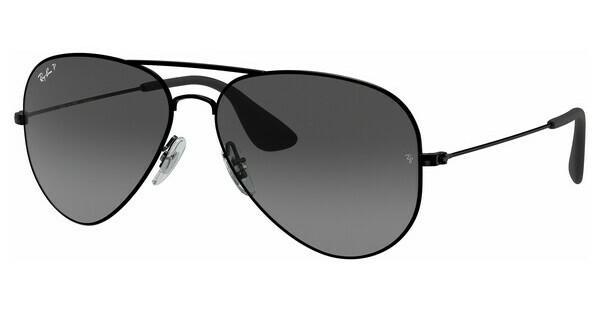 RAY BAN RAY-BAN Sonnenbrille » RB3558«, schwarz, 002/T3 - schwarz/grau
