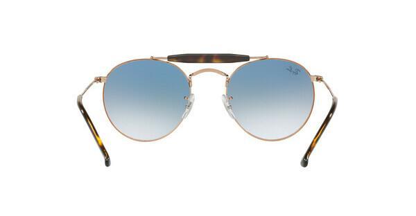 RAY BAN RAY-BAN Sonnenbrille » RB3747«, braun, 90353F - braun/blau