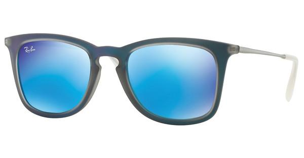 Ray-Ban   RB4221 617055 LIGHT GREEN MIRROR BLUESHOT BLUE RUBBER