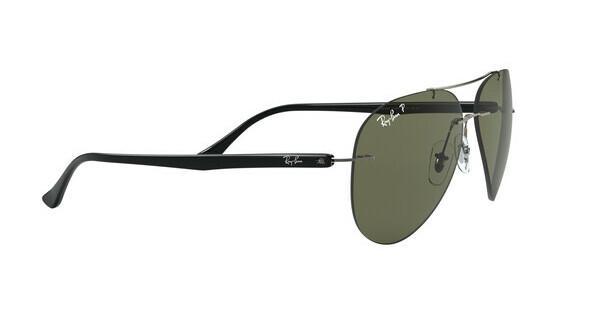 RAY BAN RAY-BAN Herren Sonnenbrille » RB8058«, grau, 004/9A - grau/grün