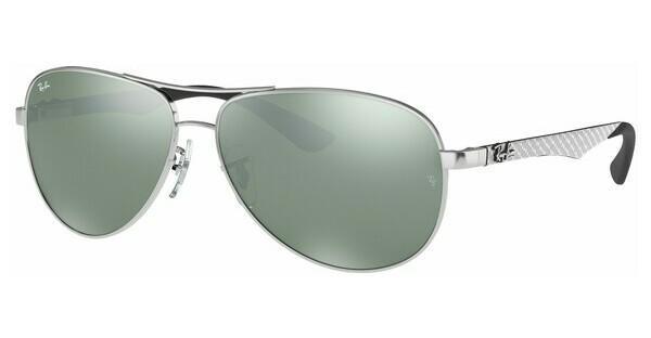 ray ban pilotenbrille silber
