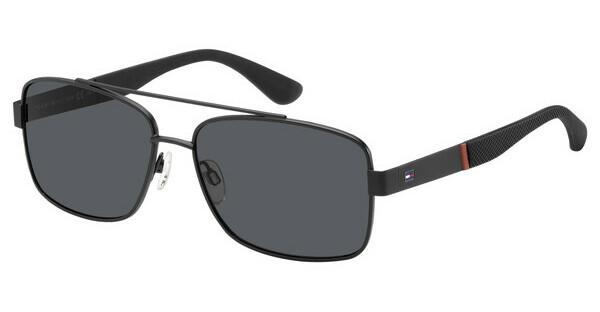 Tommy Hilfiger Herren Sonnenbrille TH 1521/S IR 003, Schwarz (Black/Grey), 59