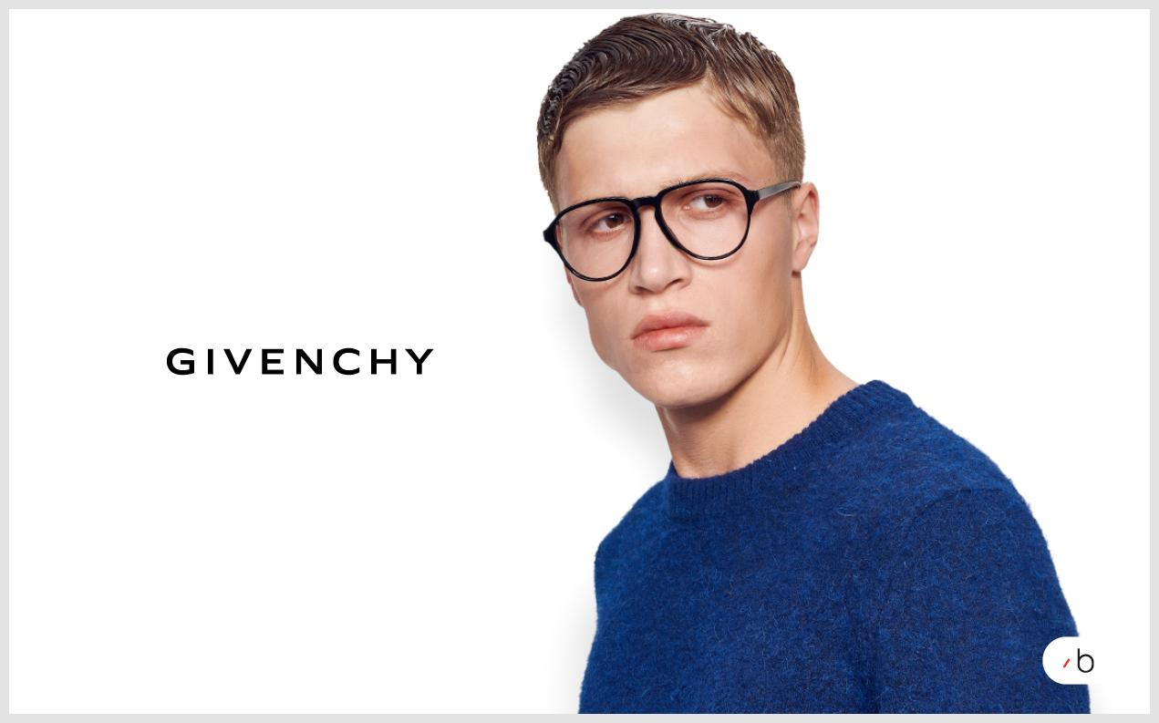 male model wearing mens Givenchy glasses