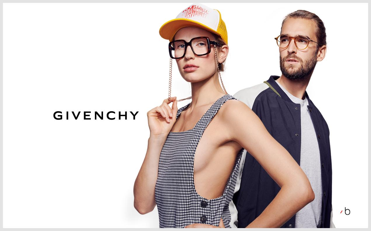 models wearing Givenchy glasses