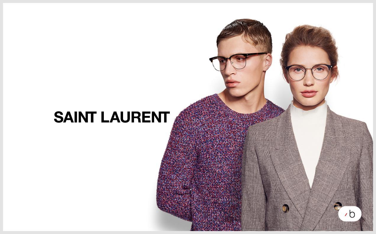 models wearing saint laurent glasses