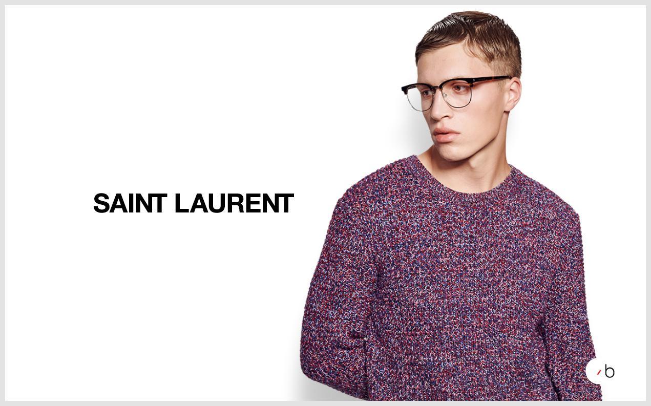 model wearing saint laurent glasses mens