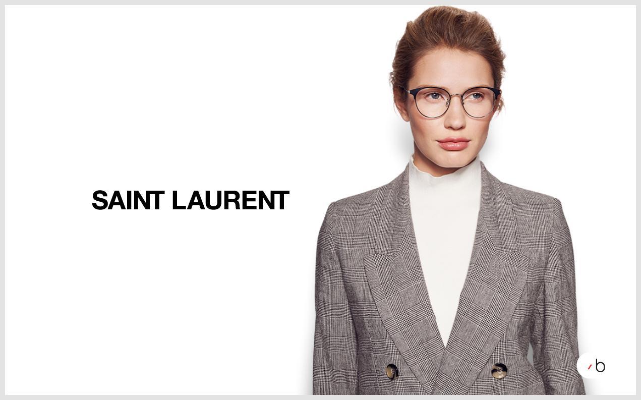 model wearing saint laurent glasses womens