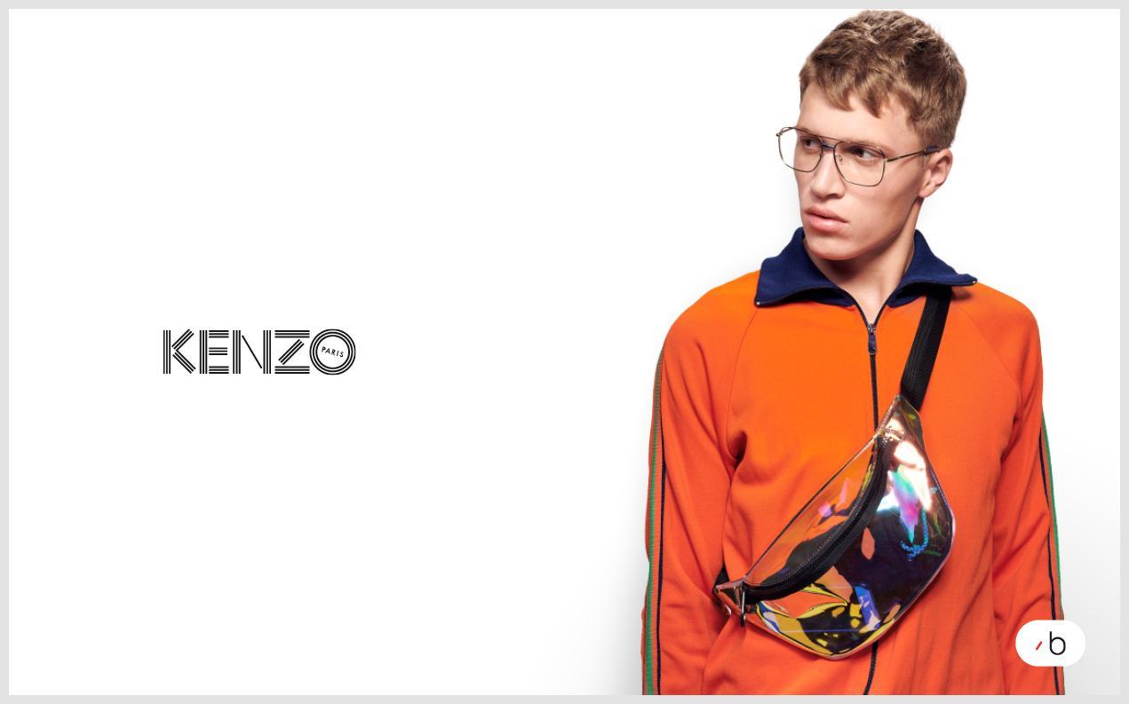 male model wearing mens Kenzo glasses