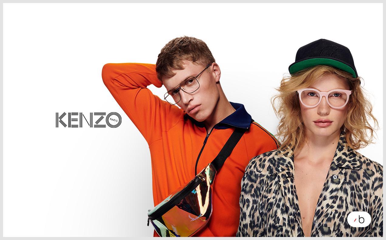 models wearing Kenzo glasses