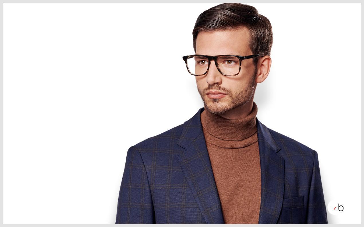Male model wearing mens Montblanc glasses