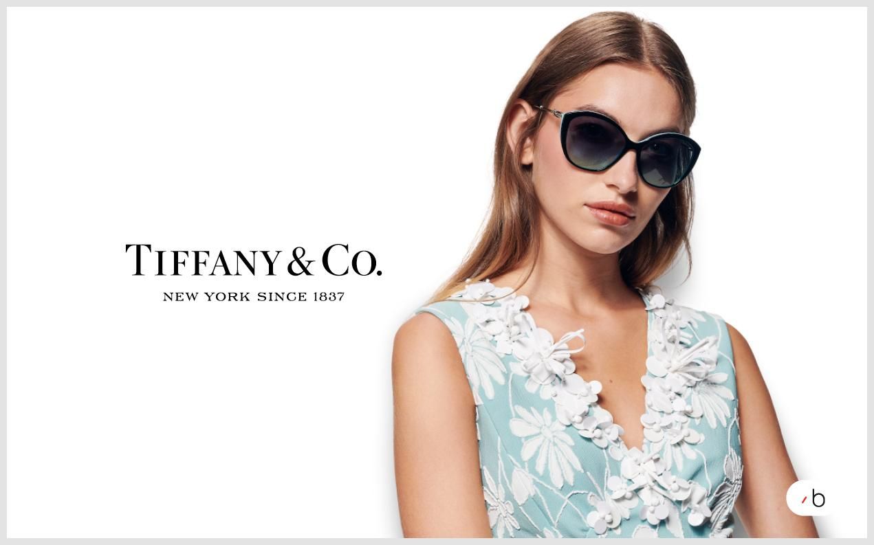Female model wearing Tiffany sunglasses for women
